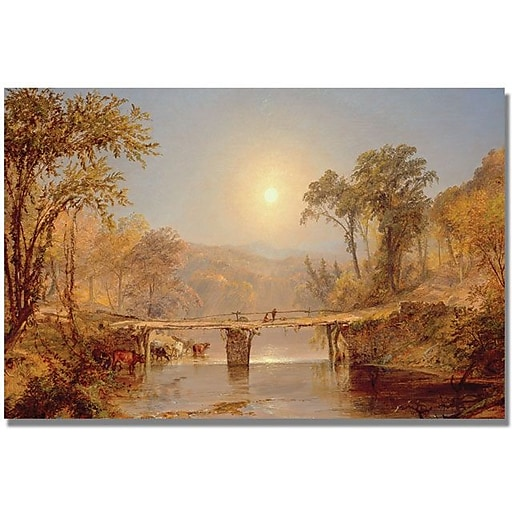 "Trademark Global Jasper Cropsey ""Indian Summer on the Delaware"" Canvas Art, 16"" x 24"""