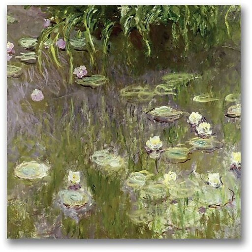 "Trademark Global Claude Monet ""Waterlilies at Midday"" Canvas Art, 24"" x 24"""