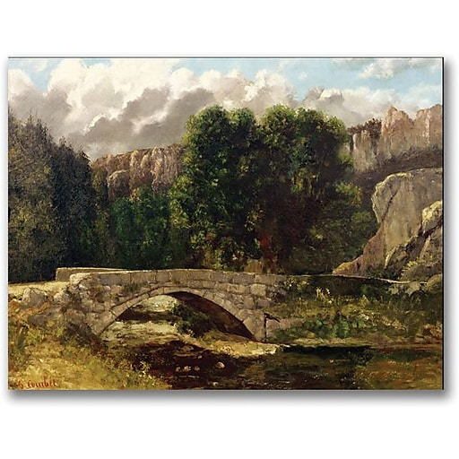 "Trademark Global Gustave Courbet ""The Pont de Fleurie"" Canvas Art, 18"" x 24"""
