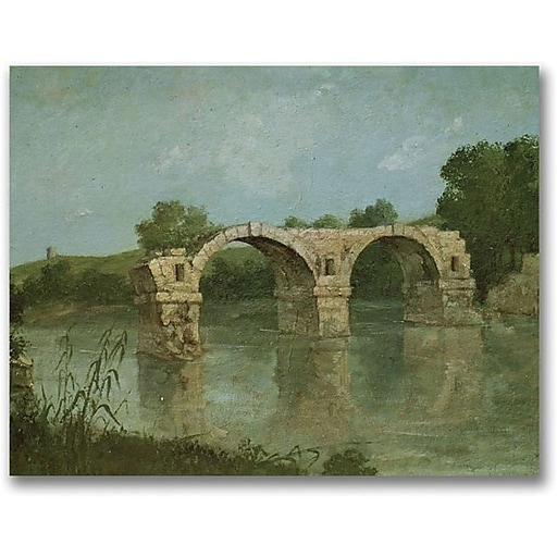 "Trademark Global Gustave Courbet ""The Bridge at Ambrussum"" Canvas Art, 18"" x 24"""