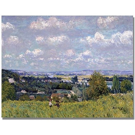 """Trademark Global Alfred Sisley """"The Valley of the Seine"""" Canvas Art, 30"""" x 47"""""""