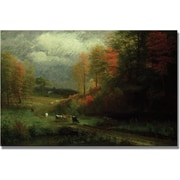 "Trademark Global Albert Biersdant ""Rainy Day in Autumn"" Canvas Art, 30"" x 47"""