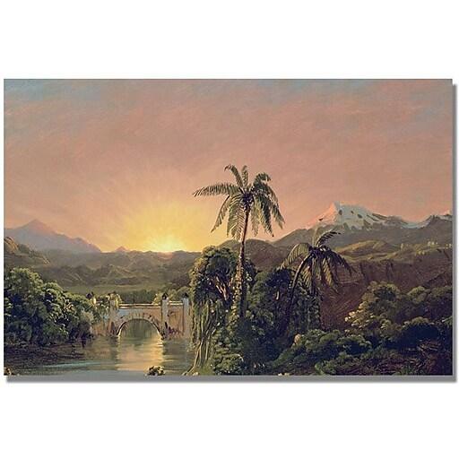 "Trademark Global Fredric Church ""Sunset in Equador"" Canvas Art, 30"" x 47"""