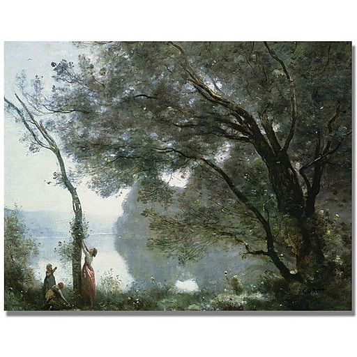 "Trademark Global Jean Baptiste Corot ""Souvenir of Montefontaine"" Canvas Art, 18"" x 24"""
