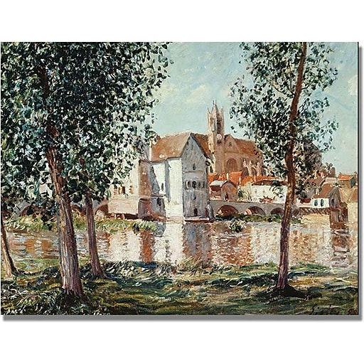 """Trademark Global Alfred Sisley """"The Loing at Moret"""" Canvas Art, 18"""" x 24"""""""