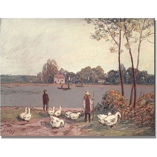"""Trademark Global Alfred Sisley """"On the Banks of the Loing"""" Canvas Art, 18"""" x 24"""""""