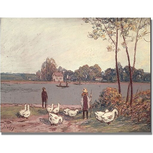 """Trademark Global Alfred Sisley """"On the Banks of the Loing"""" Canvas Art, 24"""" x 32"""""""