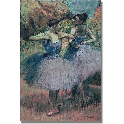 "Trademark Global Edgar Degas ""Dancers in Violet"" Canvas Art, 47"" x 35"""