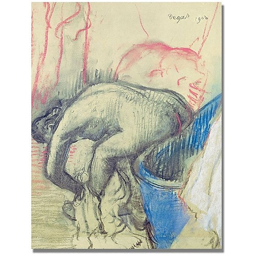 """Trademark Global Edgar Degas """"After Bath 1903"""" Canvas Art, 47"""" x 35"""""""