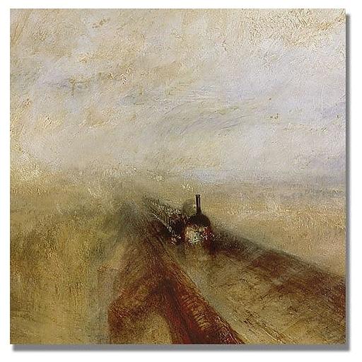 "Trademark Global Joseph Turner ""Rain Steam and Speed"" Canvas Art, 18"" x 18"""