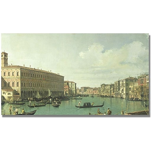 "Trademark Global Canatello ""The Grand Canal from the Rialto Bridge"" Canvas Art, 30"" x 47"""