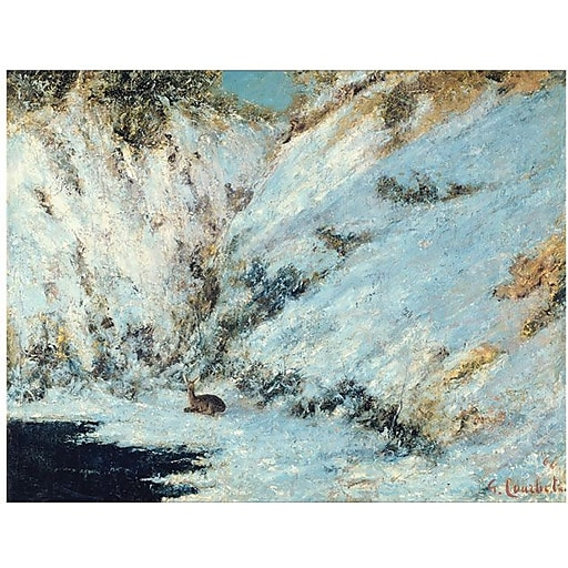 "Trademark Global Gustave Courbet ""Snowy Landscape 1876"" Canvas Art, 18"" x 24"""
