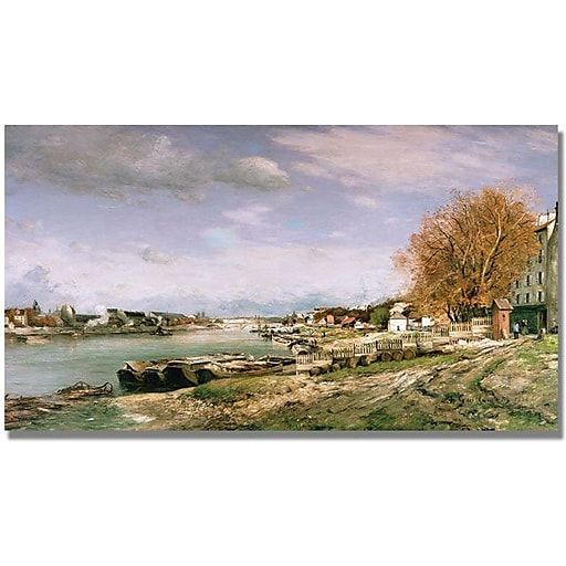 """Trademark Global Jean Baptiste Corot """"The Old Quay at Bercy"""" Canvas Art, 30"""" x 47"""""""