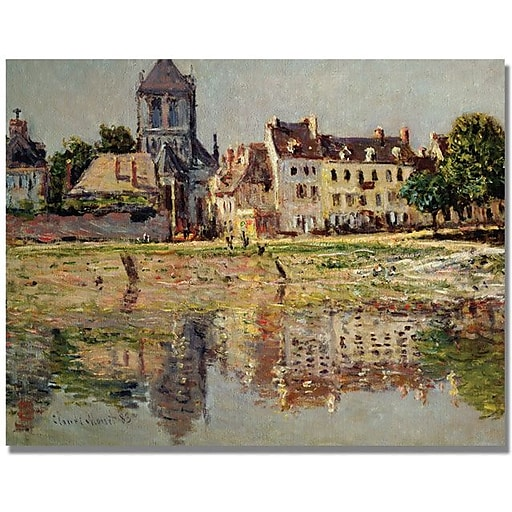 """Trademark Global Claude Monet """"By the River at Vernon"""" Canvas Art, 24"""" x 32"""""""