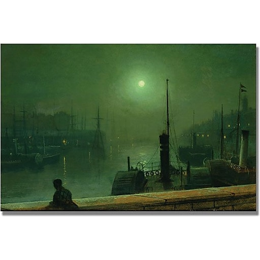 "Trademark Global John Atkinson Grimshaw ""On The Clyde Glasgow"" Canvas Art, 30"" x 47"""