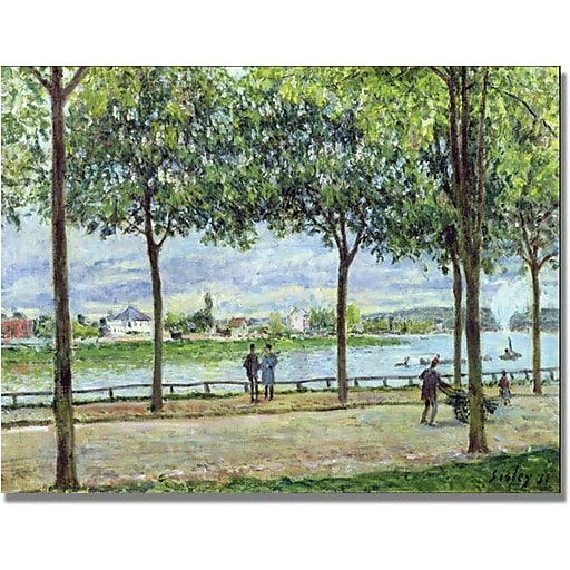 "Trademark Global Alfred Sisley ""The Avenue of Chestnut Trees II"" Canvas Art, 24"" x 32"""
