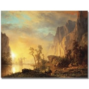 "Trademark Global Albert Biersdant ""Sunset in the Rockies"" Canvas Art, 24"" x 32"""