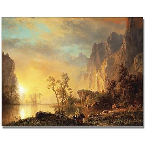 "Trademark Global Albert Biersdant ""Sunset in the Rockies"" Canvas Art, 24"" x 32"""