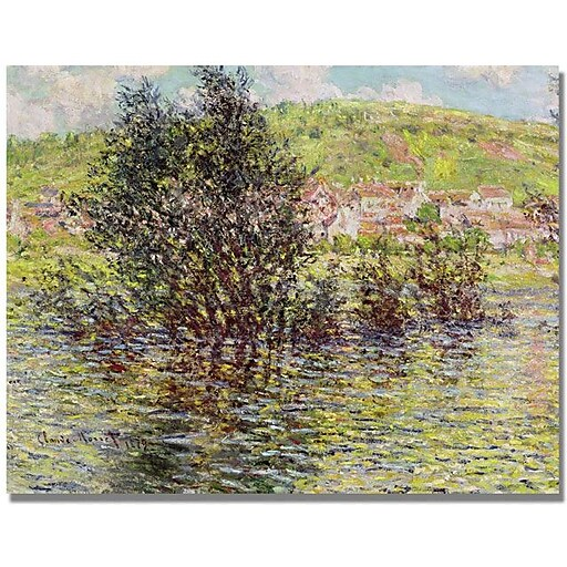 "Trademark Global Claude Monet ""Vetheuil, View from Lavacourt"" Canvas Art, 35"" x 47"""