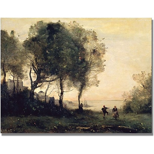 "Trademark Global Jean Baptiste Corot ""Souvenir of Italy"" Canvas Art, 24"" x 32"""