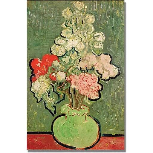 "Trademark Global Vincent Van Gogh ""Bouquet of Flowers"" Canvas Art, 47"" x 30"""