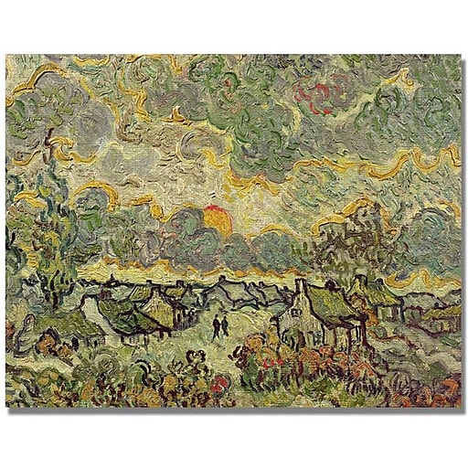 "Trademark Global Vincent Van Gogh ""Autumn Landscape"" Canvas Art, 35"" x 47"""