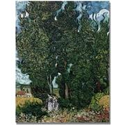 "Trademark Global Vincent Van Gogh ""The Cypresses"" Canvas Art, 24"" x 18"""