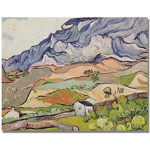 "Trademark Global Vincent Van Gogh ""The Alpilles"" Canvas Art, 35"" x 47"""