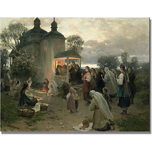 "Trademark Global Nikolia Pimonenko ""Easter Matins"" Canvas Art, 24"" x 32"""