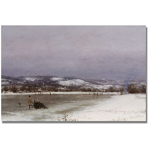 "Trademark Global Jervis McEntee ""Gathering Christmas Finery"" Canvas Art, 30"" x 47"""