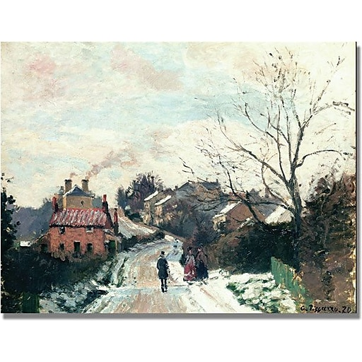 "Trademark Global Camille Pissarro ""Fox Hill, Upper Norwood"" Canvas Art, 24"" x 32"""