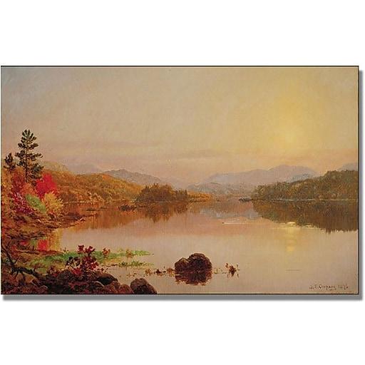 "Trademark Global Jasper Cropsey ""Lake Wawayanda"" Canvas Art, 24"" x 47"""