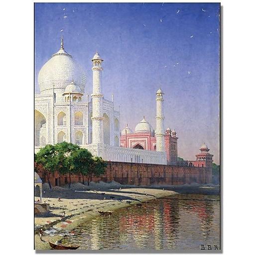"Trademark Global Vasili Vereschagin ""Taj Mahal"" Canvas Art, 32"" x 24"""