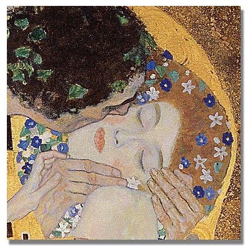 "Trademark Global Gustav Klimt ""The Kiss"" Canvas Art, 24"" x 24"""