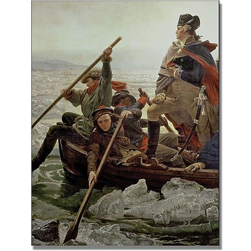 "Trademark Global Emanuel Leutze ""Washington Crossing"" Canvas Art, 32"" x 24"""