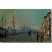 "Trademark Global John Atkinson Grimshaw ""Humber Dockside"" Canvas Art, 16"" x 24"""
