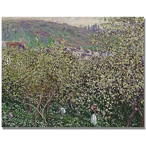 "Trademark Global Claude Monet ""Fruit Pickers"" Canvas Art, 35"" x 47"""