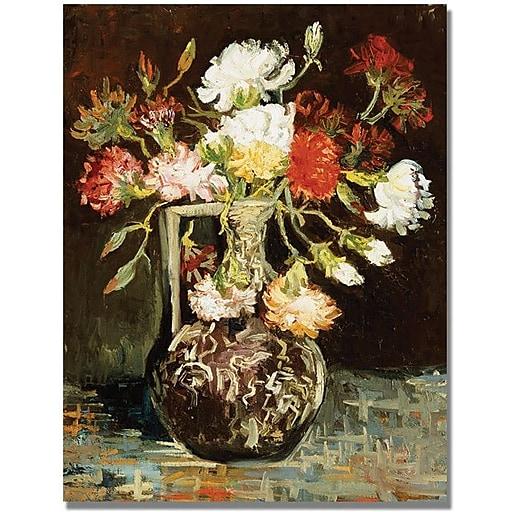 """Trademark Global Vincent Van Gogh """"Bouquet of Flowers II"""" Canvas Art, 24"""" x 18"""""""