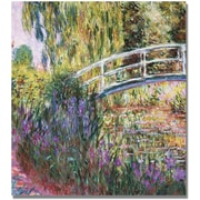 "Trademark Global Claude Monet ""The Japanese Bridge IV"" Canvas Art, 18"" x 18"""