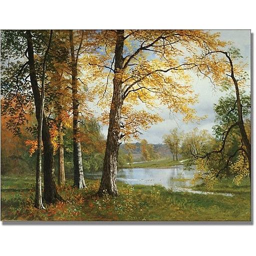 "Trademark Global Albert Biersdant ""A Quiet Lake"" Canvas Art, 18"" x 24"""
