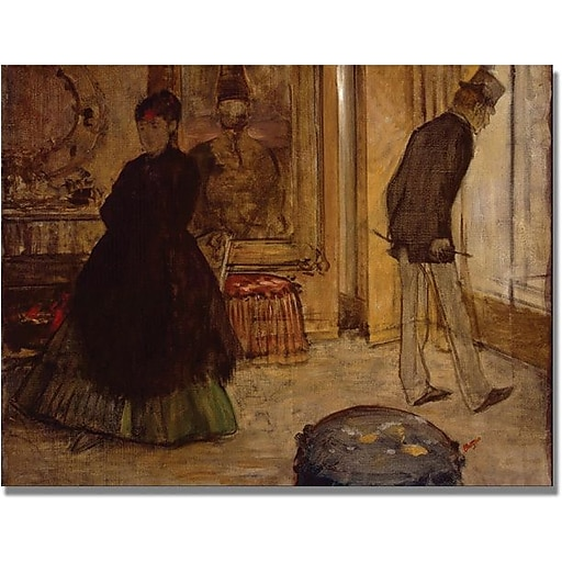 "Trademark Global Edgar Degas ""Interior with Two Figures"" Canvas Art, 24"" x 32"""