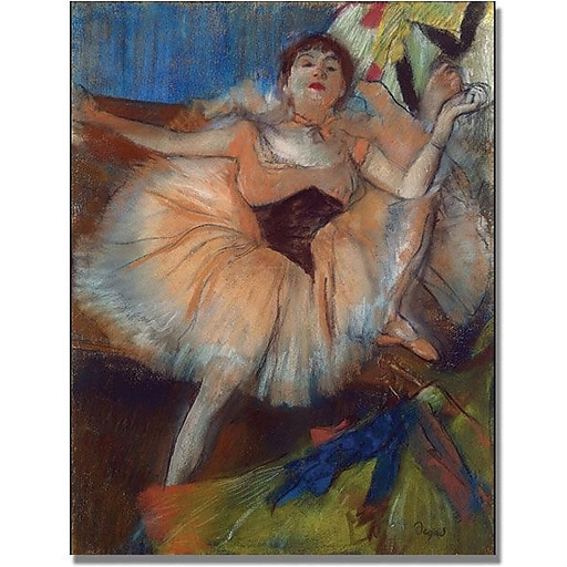 "Trademark Global Edgar Degas ""Seated Dancer, 1879"" Canvas Art, 35"" x 47"""