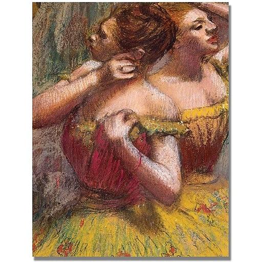 "Trademark Global Edgar Degas ""Two Dancers"" Canvas Art, 18"" x 24"""