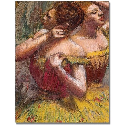 "Trademark Global Edgar Degas ""Two Dancers"" Canvas Art, 24"" x 32"""