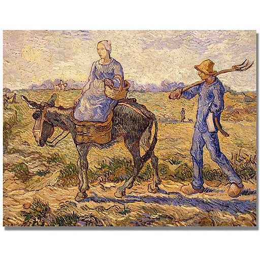 """Trademark Global Vincent Van Gogh """"Morning Going out to Work"""" Canvas Art, 35"""" x 47"""""""