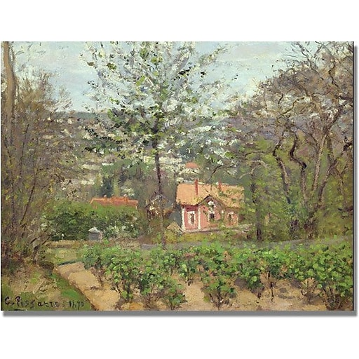 """Trademark Global Camille Pissarro """"The Cottage"""" Canvas Art, 18"""" x 24"""""""