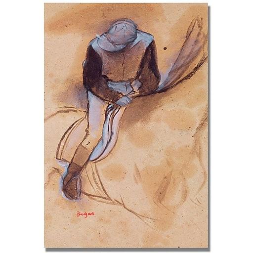 "Trademark Global Edgar Degas ""Jockey Flexed Forward in Saddle"" Canvas Art, 47"" x 30"""