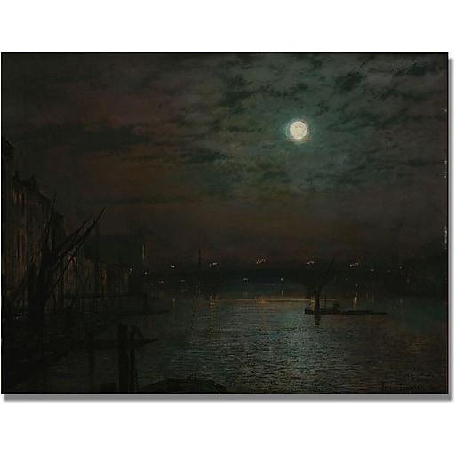 "Trademark Global John Atkinson Grimshaw ""Southwark Bridge by Moonlight"" Canvas Art, 24"" x 32"""