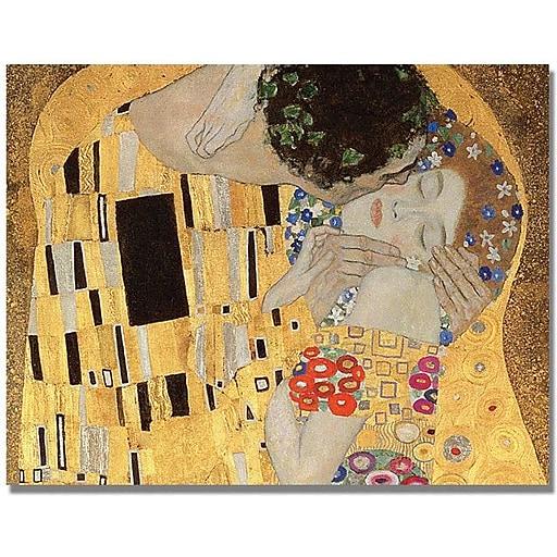 "Trademark Global Gustav Klimt ""The Kiss"" Canvas Art, 24"" x 32"""
