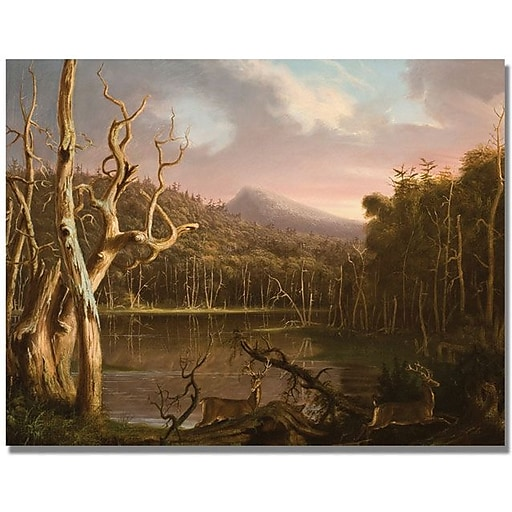 """Trademark Global Thomas Cole """"Lake with Dead Trees"""" Canvas Art, 35"""" x 47"""""""